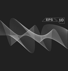 Abstract monochrome wave vector
