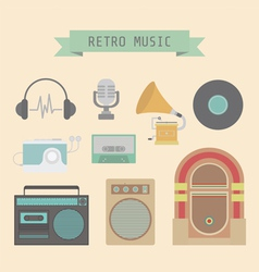 Retromusicset vector