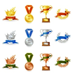 Set of awards and medals vector