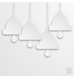 modern white bells background vector image
