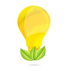 eco creative gold bulb vector image