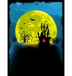 Spooky halloween background vector