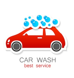 Car wash sign logo vector