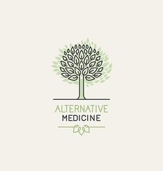 herbal and alternative medicine logo design vector image