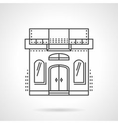 Sewing studio building facade line icon vector