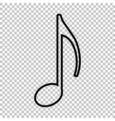 Music note sign line icon vector