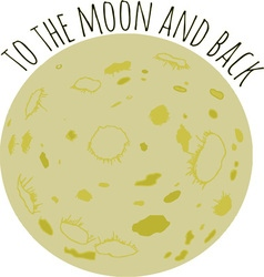 To The Moon vector image