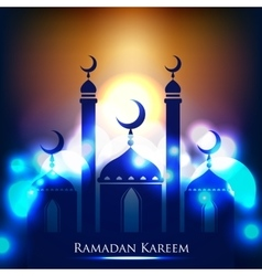 Ramadan kareem background with islamic ornament vector
