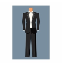 Wedding tuxedo icon cartoon style vector