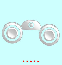 binoculars it is icon vector image vector image