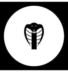 Black cobra snake head simple isolated icon eps10 vector