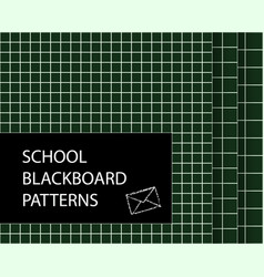 Blackboard pattern set squared seamless vector