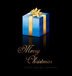 Blue Gift vector image