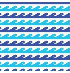 Blue waves seamless background vector image vector image
