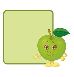 Character apple and poster vector image vector image