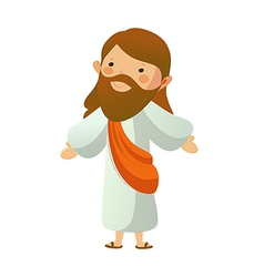 Close-up of Jesus Christ standing vector image