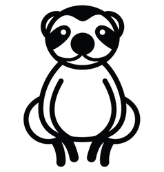 Cute animal sloth - vector image vector image