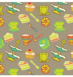 desert seamless pattern vector image vector image