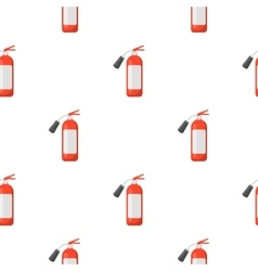 Fire extinguisher icon cartoon pattern silhouette vector image vector image