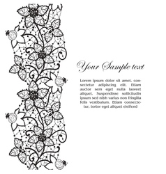 floral lace vector image