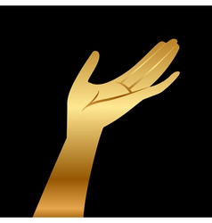 gold hand vector image vector image