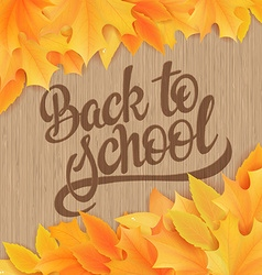 hand drawn back to school lettering with realistic vector image