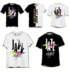 Jazz night tshirts vector