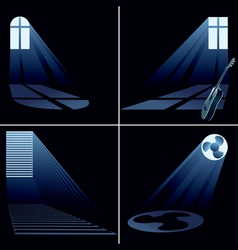 light beams vector image