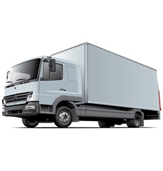 Light commercial truck vector image