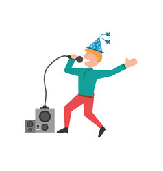 man party dance celebration vector image vector image