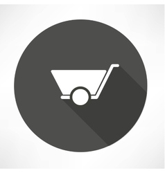 Mason trolley icon vector