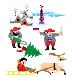 russia winter vector image vector image