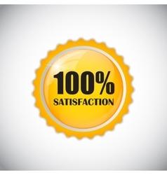 Satisfaction Golden Label vector image vector image