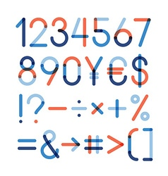 Set - numbers and other symbols vector