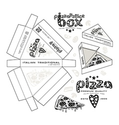 Stock design of boxes for pizza slice vector image vector image