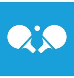 Table tennis white icon vector image