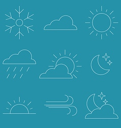 Thin line icon weather vector