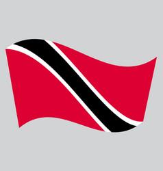 Trinidad and tobago flag waving on gray background vector