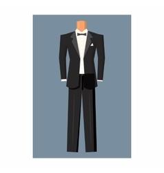 Wedding tuxedo icon cartoon style vector image
