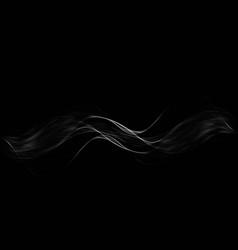 white transparent steam on dark background vector image