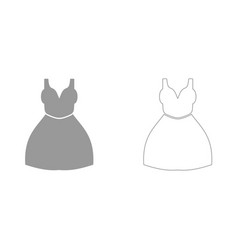 woman dress it is icon vector image vector image