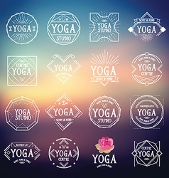 Yoga logo sport icons vector image