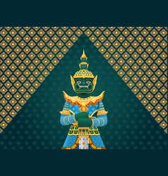 thai art giant vector image