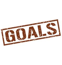 Goals stamp vector