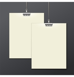 Template of a paper sheet -poster picture frame vector