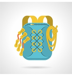 Flat icon for hike backpack vector