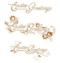 Easter greetings vector