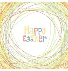 Easter happy card vector