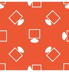 Orange monitor pattern vector