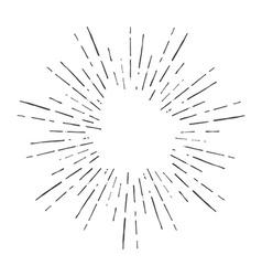 Vintage hand drawn sunburst vector image